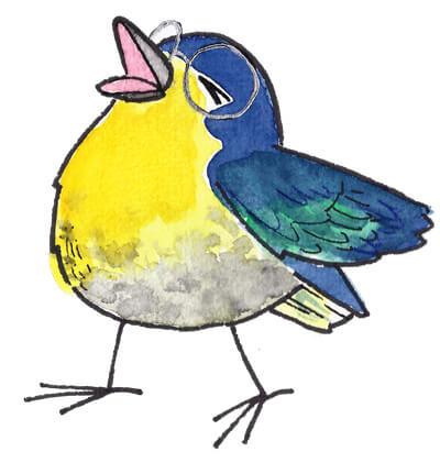 Vogel zwitschert