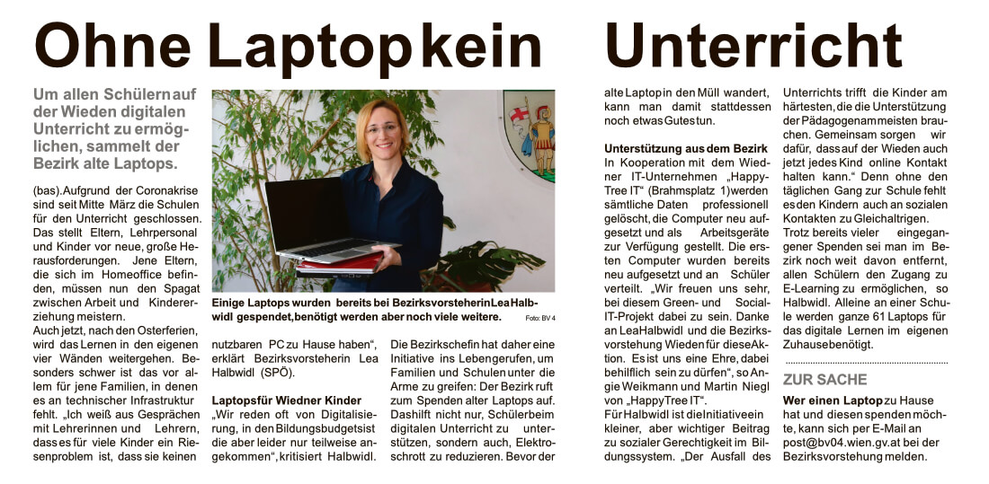 Bezirkszeitung Artikel