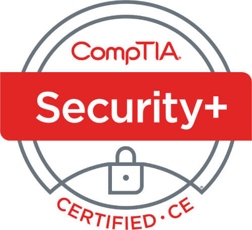 CompTIA Security Plus Certified CE